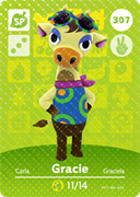 Amiibo Cards Animal Crossing Series 4 Gracie
