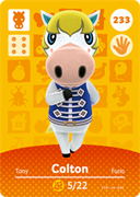 Amiibo Cards Animal Crossing Series 3 Colton