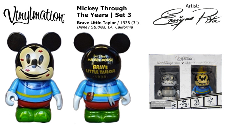 Vinylmation Open And Misc Mickey Through the Years Brave Little Taylor - 1938