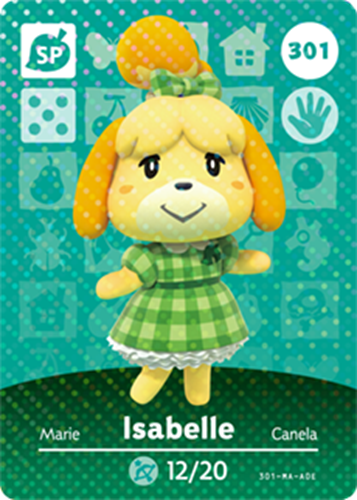 Amiibo Cards Animal Crossing Series 4 Isabelle