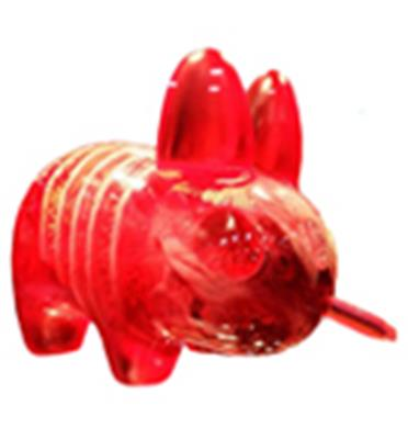 Kid Robot Labbits Infected (Red) Stock