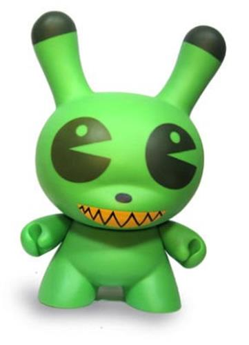"Kid Robot 20"" Dunnys Pac Man (Green) Icon"