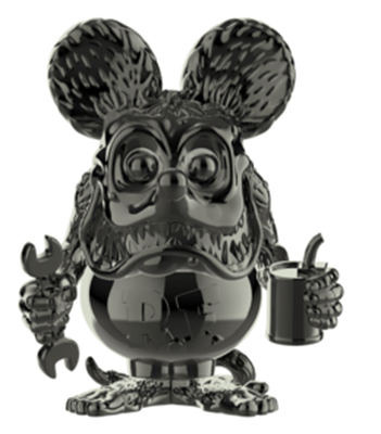 Funko Pop! Icons Rat Fink (Gray Chrome) Icon
