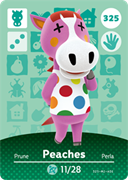 Amiibo Cards Animal Crossing Series 4 Peaches