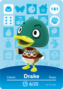 Amiibo Cards Animal Crossing Series 2 Drake