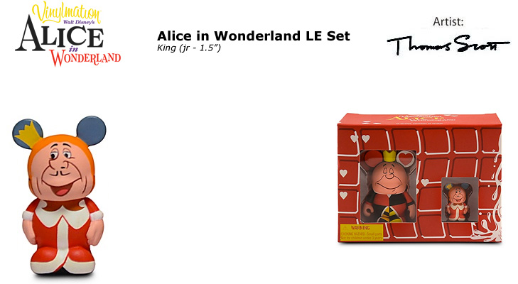 Vinylmation Open And Misc Alice In Wonderland King