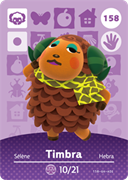 Amiibo Cards Animal Crossing Series 2 Timbra