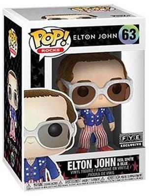 Funko Pop! Rocks Elton John (Red, White & Blue) - Glitter Stock
