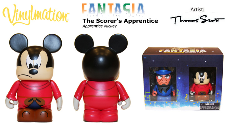 Vinylmation Open And Misc Fantasia Apprentice Mickey