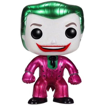 Funko Pop! Heroes The Joker (Classic 1966 TV) (Metallic) Icon