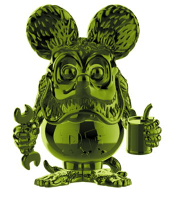 Funko Pop! Icons Rat Fink (Green Chrome)