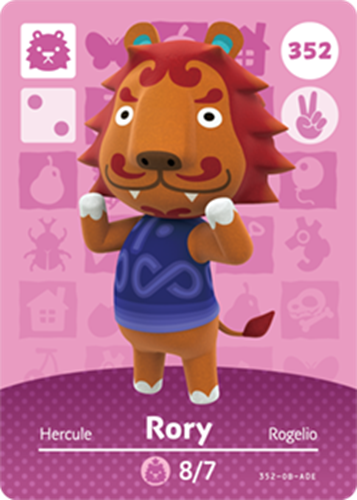 Amiibo Cards Animal Crossing Series 4 Rory