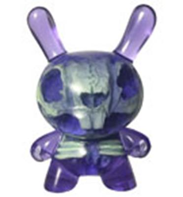 Kid Robot Special Edition Dunny Purple: Green Skeleton Infected Stock