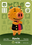 Amiibo Cards Animal Crossing Series 4 Kevin