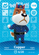 Amiibo Cards Animal Crossing Series 2 Copper