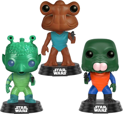 Funko Pop! Star Wars Greedo Hammerhead Walrus (3-Pack)