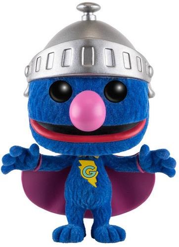 Funko Pop! Sesame Street Super Grover (Flocked) Icon Thumb