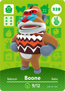 Amiibo Cards Animal Crossing Series 4 Boone