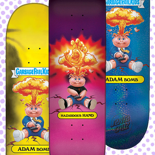 Garbage Pail Kids Santa Cruz Skateboards