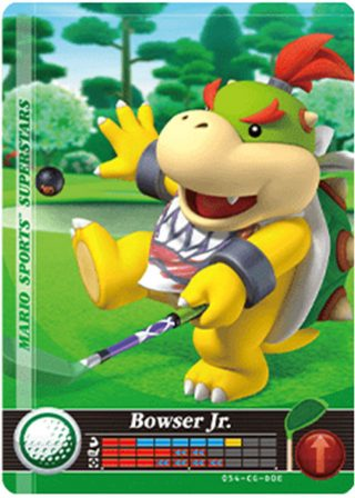 Amiibo Cards Mario Sports Superstars Bowser Jr. - Golf Icon