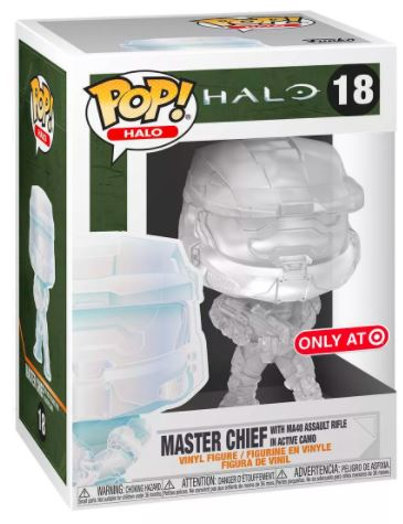 Funko Pop! Halo Master Chief with MA40 Assault Rifle in Active Camo Stock