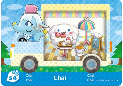 Amiibo Cards Animal Crossing X Sanrio Chai - Cinnamaroll (Europe)
