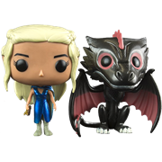 Funko Pop! Game of Thrones Daenerys (Mhysa) & Drogon (Metallic)