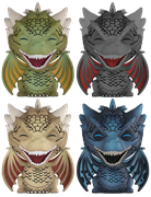 Dorbz Game of Thrones Dragons (4-Pack)