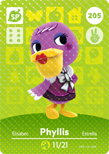 Amiibo Cards Animal Crossing Series 3 Phyllis