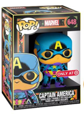 Funko Pop! Marvel Captain America (Black Light) Stock