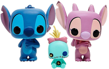 Funko Pop! Disney Stitch, Scrump & Angel