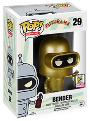 Funko Pop! Animation Bender (Gold) Stock