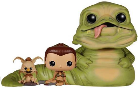Funko Pop! Star Wars Jabba the Hutt, Slave Leia & Salacious B. Crumb