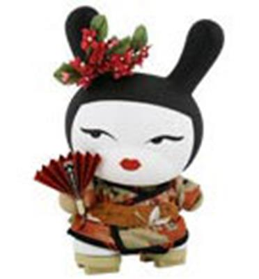 "Kid Robot 8"" Dunnys Geisha (Red)"