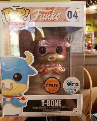 Funko Pop! Funko T-Bone (Pink) (Metallic)
