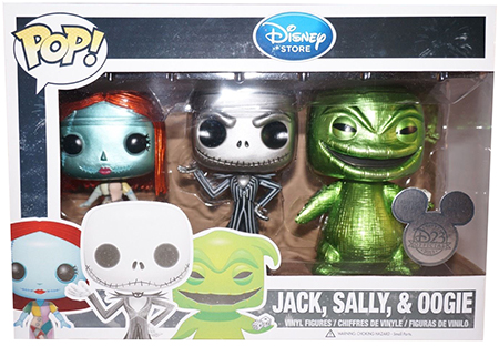Funko Pop! Disney Nightmare Before Christmas (3-Pack) - Metallic Stock