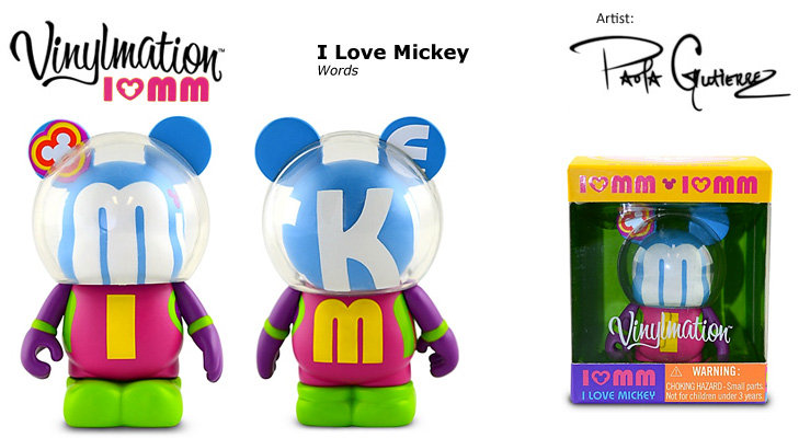 Vinylmation Open And Misc I Love Mickey Words