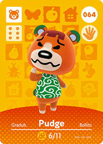 Amiibo Cards Animal Crossing Series 1 Pudge