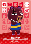Amiibo Cards Animal Crossing Series 1 Rasher