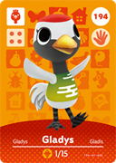 Amiibo Cards Animal Crossing Series 2 Gladys