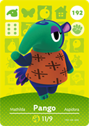 Amiibo Cards Animal Crossing Series 2 Pango