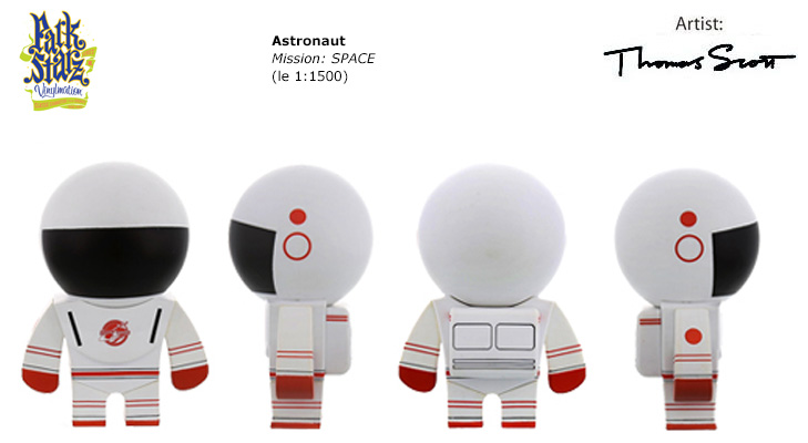 Vinylmation Open And Misc Park Starz 3 Astronaut 'red'