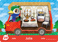 Amiibo Cards Welcome amiibo Julia