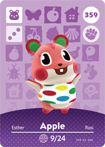 Amiibo Cards Animal Crossing Series 4 Apple
