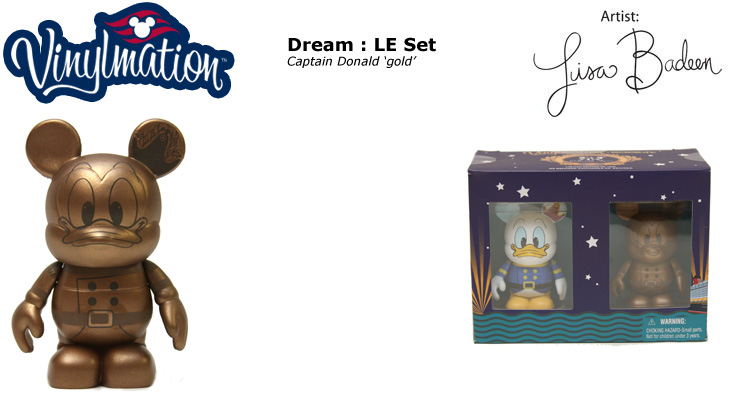 Vinylmation Open And Misc Disney Cruise Line Captain Donald 'gold'