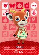 Amiibo Cards Animal Crossing Series 2 Beau