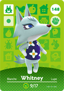 Amiibo Cards Animal Crossing Series 2 Whitney