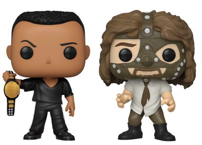 Funko Pop! Wrestling The Rock and Mankind