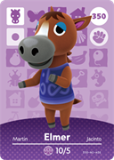 Amiibo Cards Animal Crossing Series 4 Elmer