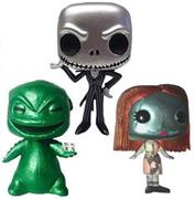 Funko Pop! Disney Nightmare Before Christmas (3-Pack) - Metallic